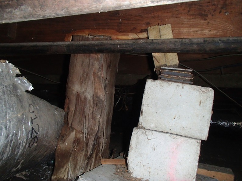 Shifting piers in the crawlspace armor inspections 214 for Cost to build pier and beam foundation